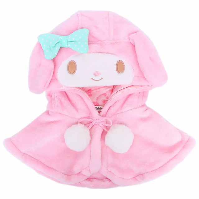 My Melody Kids Fuzzy Hooded Cape