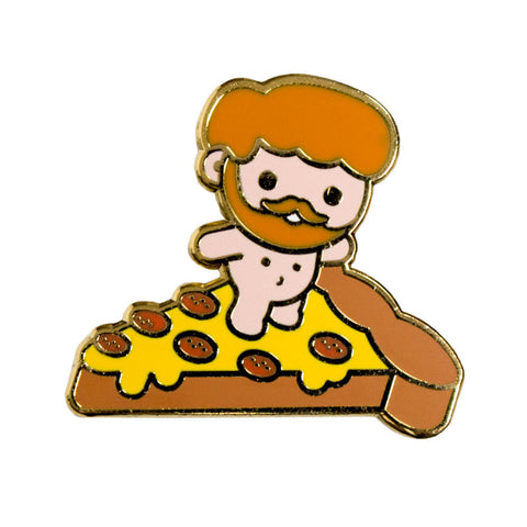 Lil Truck: Pizza Surfer Pin