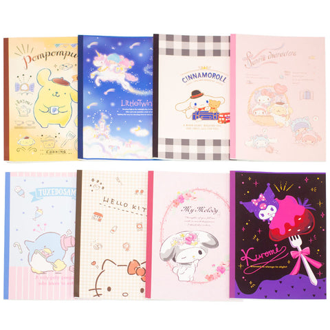 Sanrio Characters B5 Line Notebook