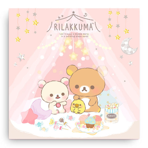 Rilakkuma Pajama Party Canvas Art Print