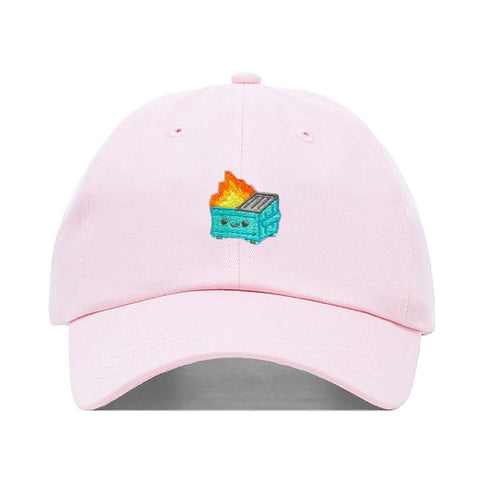 100% Soft Dumpster Fire Pink Dad Hat