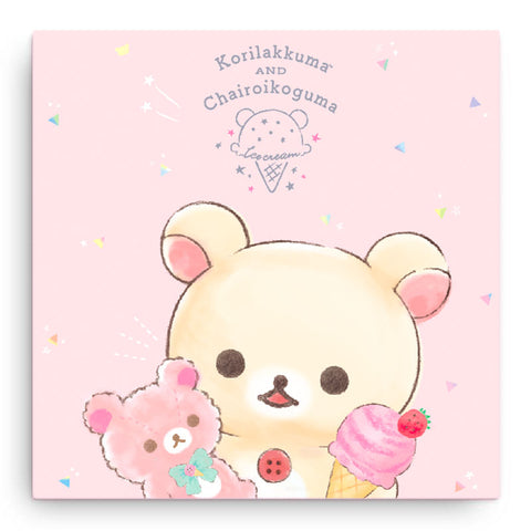 Korilakkuma Ice Cream Canvas Art Print