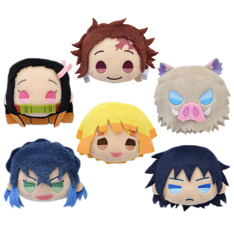 Demon Slayer Plush Character Head Pin