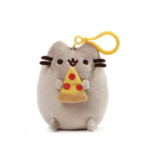 Pusheen Pizza Backpack Clip
