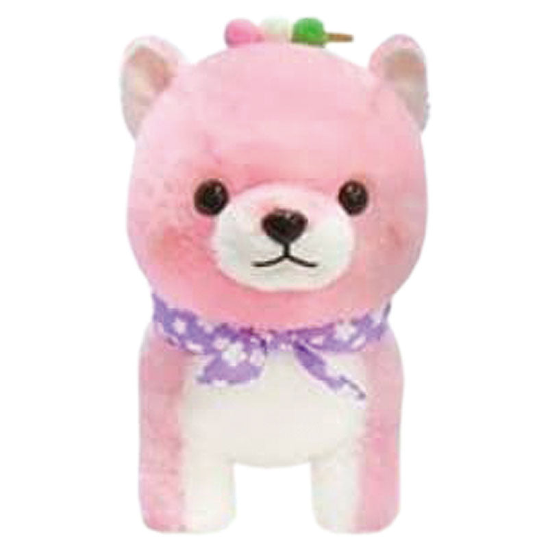 Mameshiba Sakura Purple Scarf Large Plush