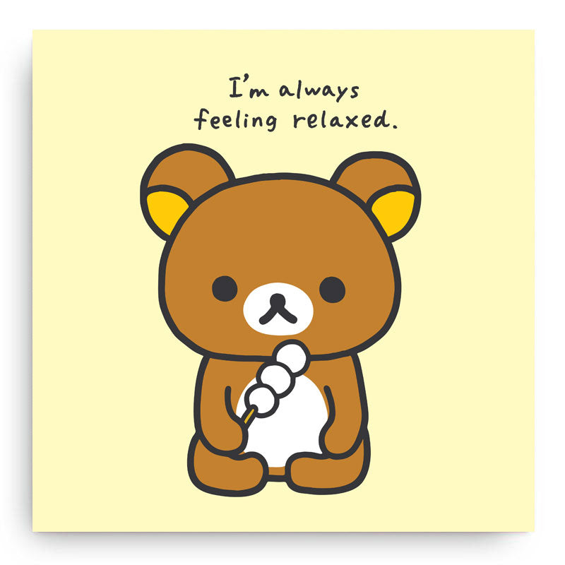 Rilakkuma Always Relaxed Canvas Art Print