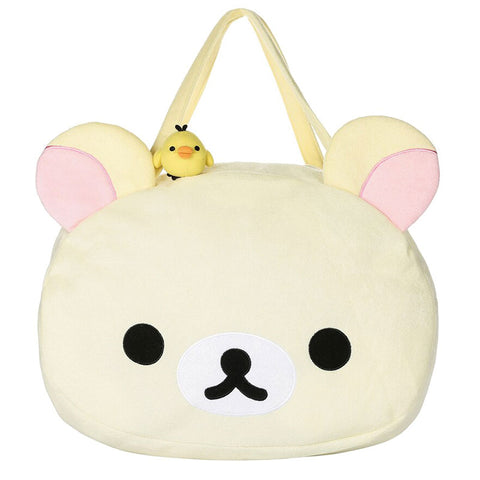 Korilakkuma Plush Face Shoulder Bag