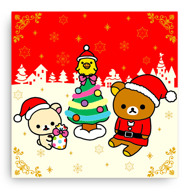 Rilakkuma Christmas Canvas Art Print