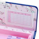 Hello Kitty Navy Double Compartment Pencil Box