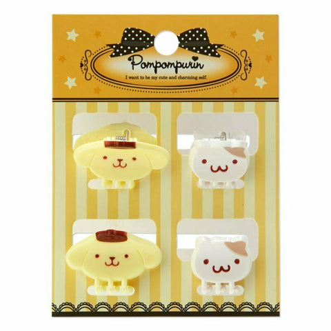 Pom Pom Purin 4 Pack Mini Hair Clips