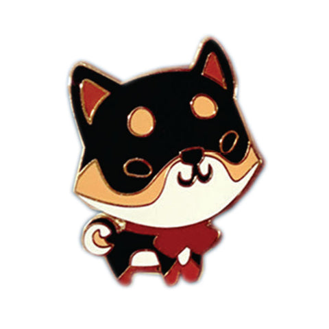 Black and Tan Shiba Inu Enamel Pin