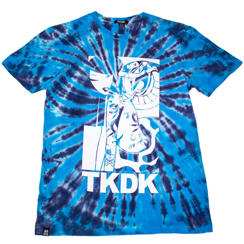 Tie Dye Snake Girl Blue Men's Tee
