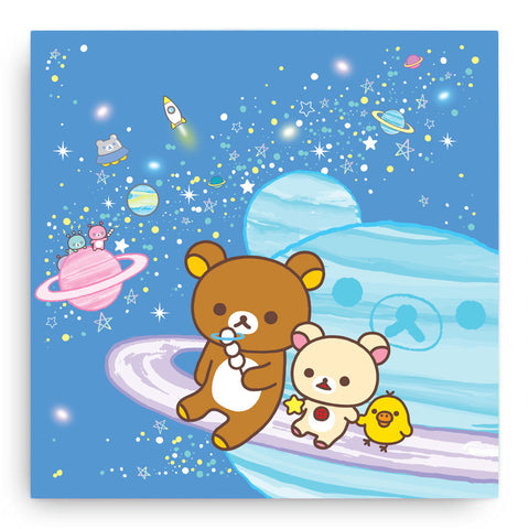 Rilakkuma Space Canvas Art Print