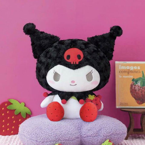 Kuromi Fuzzy Strawberry Plush