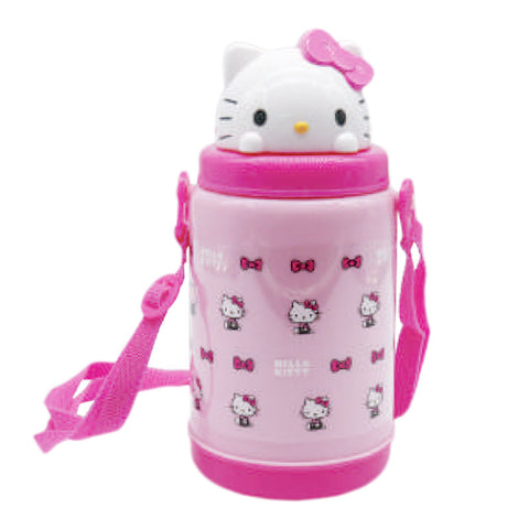 Hello Kitty Charming Pink Pop Up Straw Bottle