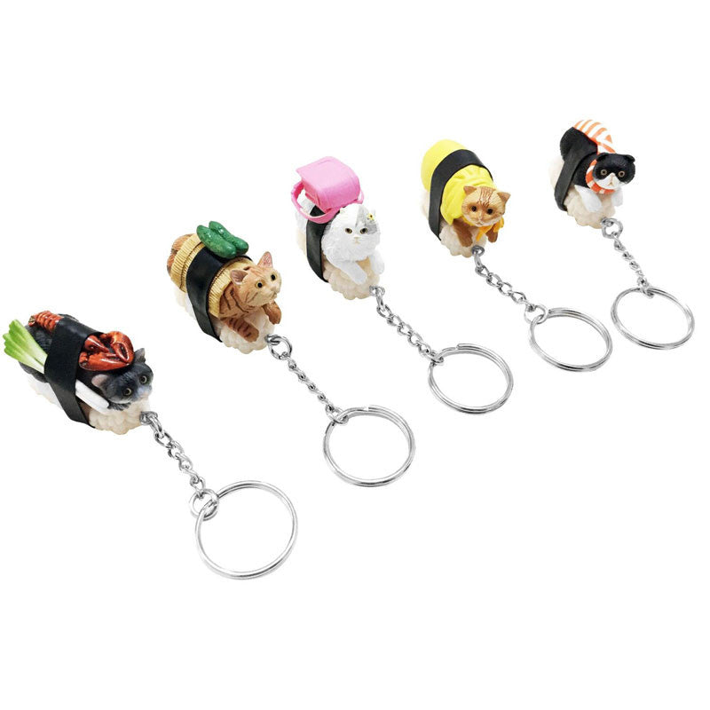 Sushi Cat Blind Box Keychains