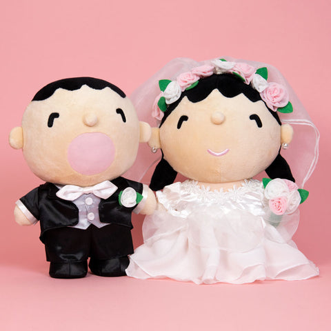 Minna No Tabo Wedding Plush Set