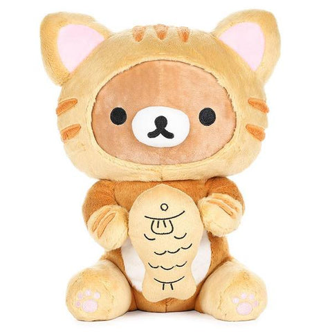 Rilakkuma Tiger Eating Fish Plush