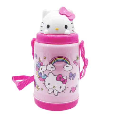 Hello Kitty Rainbow Unicorn Pop Up Straw Bottle