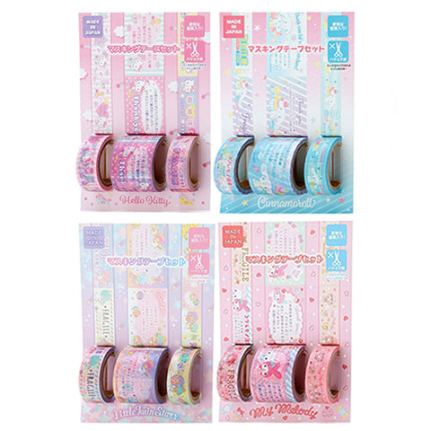 Sanrio Character Thank You Washi Tape Set
