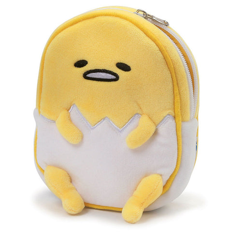 Gudetama Egg Shell Plush Zipper Pouch