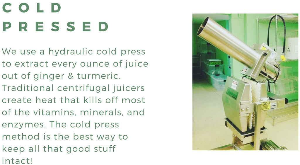 Cold Pressed Turmeric Ginger Health Shot | Organic Juice Shot 1