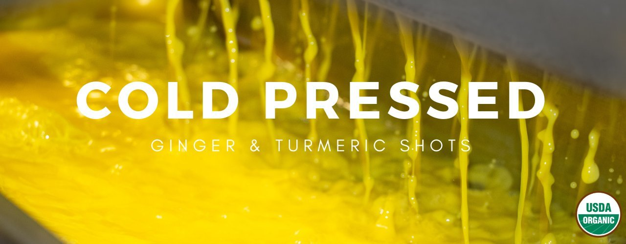 Immunity Booster Ginger Shot | Turmeric & Ginger Shot | USDA Organic & Cold Pressed | GreenLight Juice