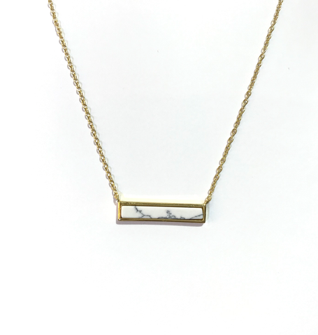Barbara White Marble Necklace