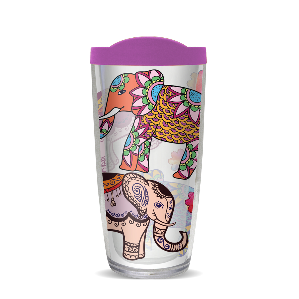 Insulated Tumbler- Elephants