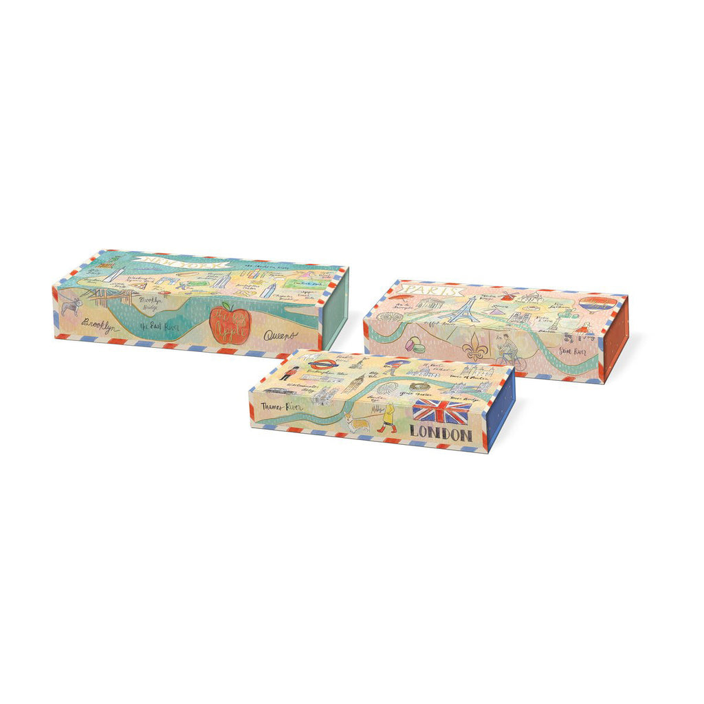 Nesting Pencil Box- City Sights