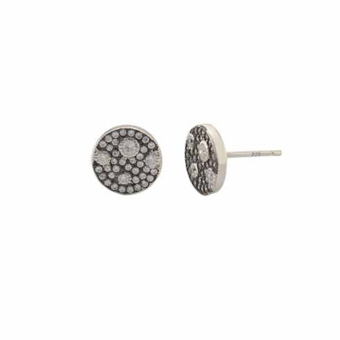 Geovana Circle Moon Studs