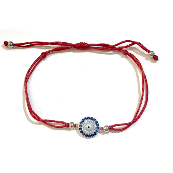 Evil Eye Red Adjustable Bracelet