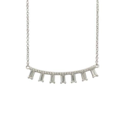 Baguettes Curved Necklace