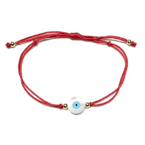 Evil Eye MOP Red Thread Bracelet