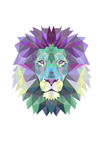 Print- Abstract Lion