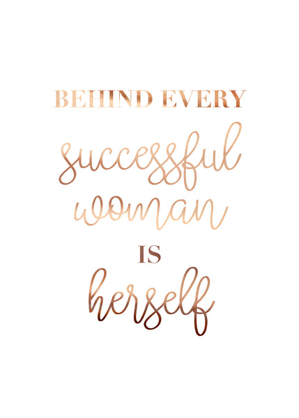 Print- Successful Woman
