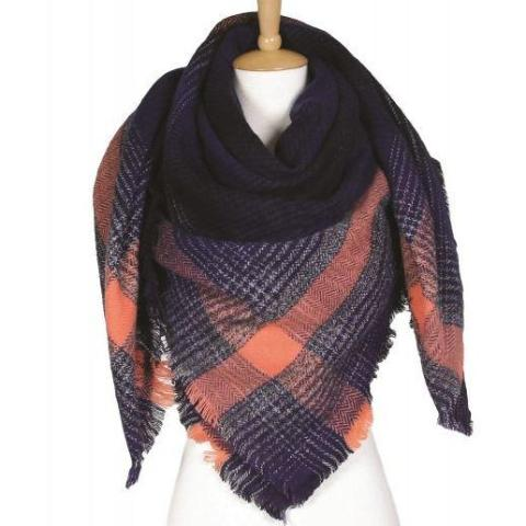 Vania Plaid Blanket Scarf