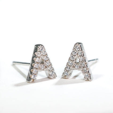 Sterling Silver Initial Studs