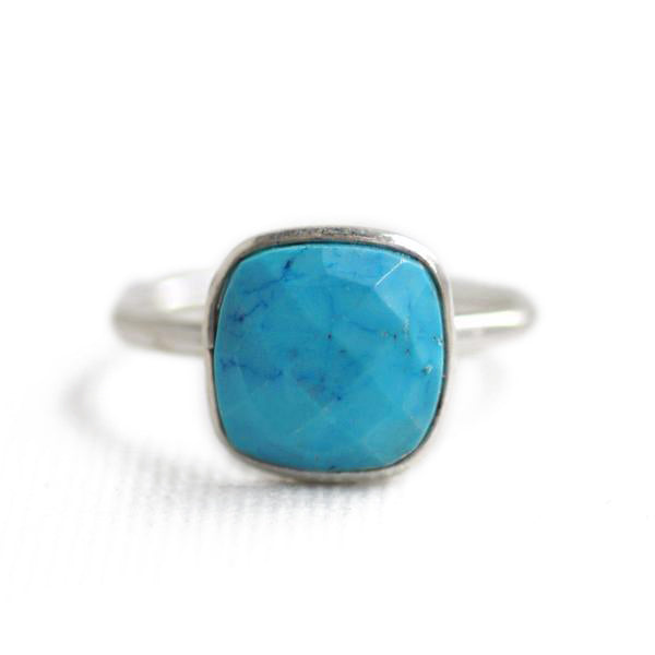 Felice Square Ring Turquoise