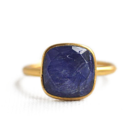 Felice Square Ring Sapphire
