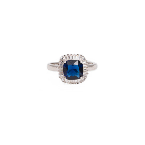 Adriene Square Sparkle Topaz Ring