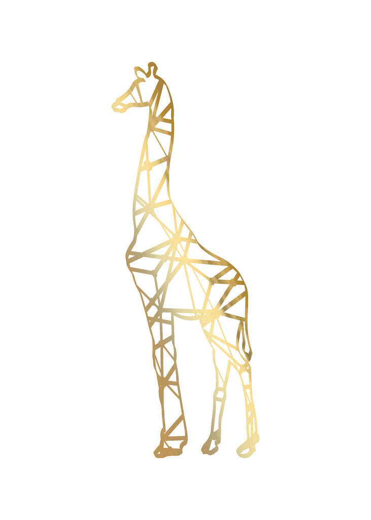 Print- Abstract Giraffe