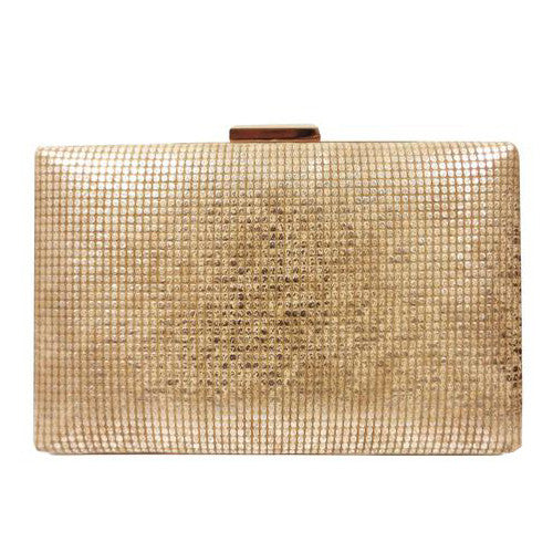 Embossed Metallic Clutch
