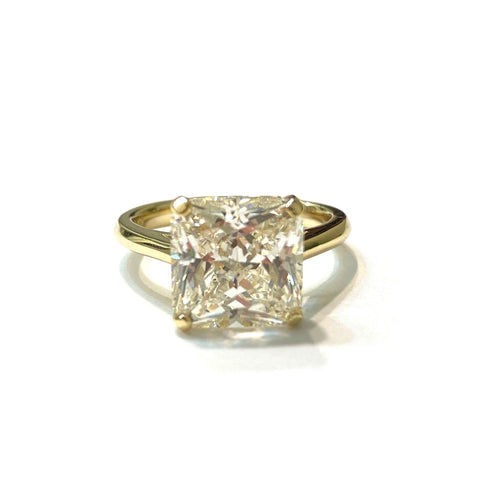Adriene Vacay 4 Prong Solitaire Square Engage Ring