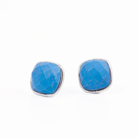 Felice Square Earrings Turquoise