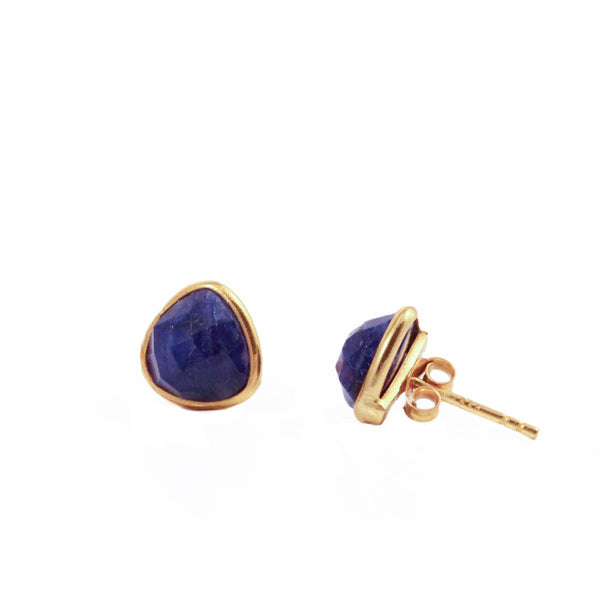 Felice Triangle Earrings Sapphire