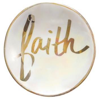 Jewelry Dish- Faith