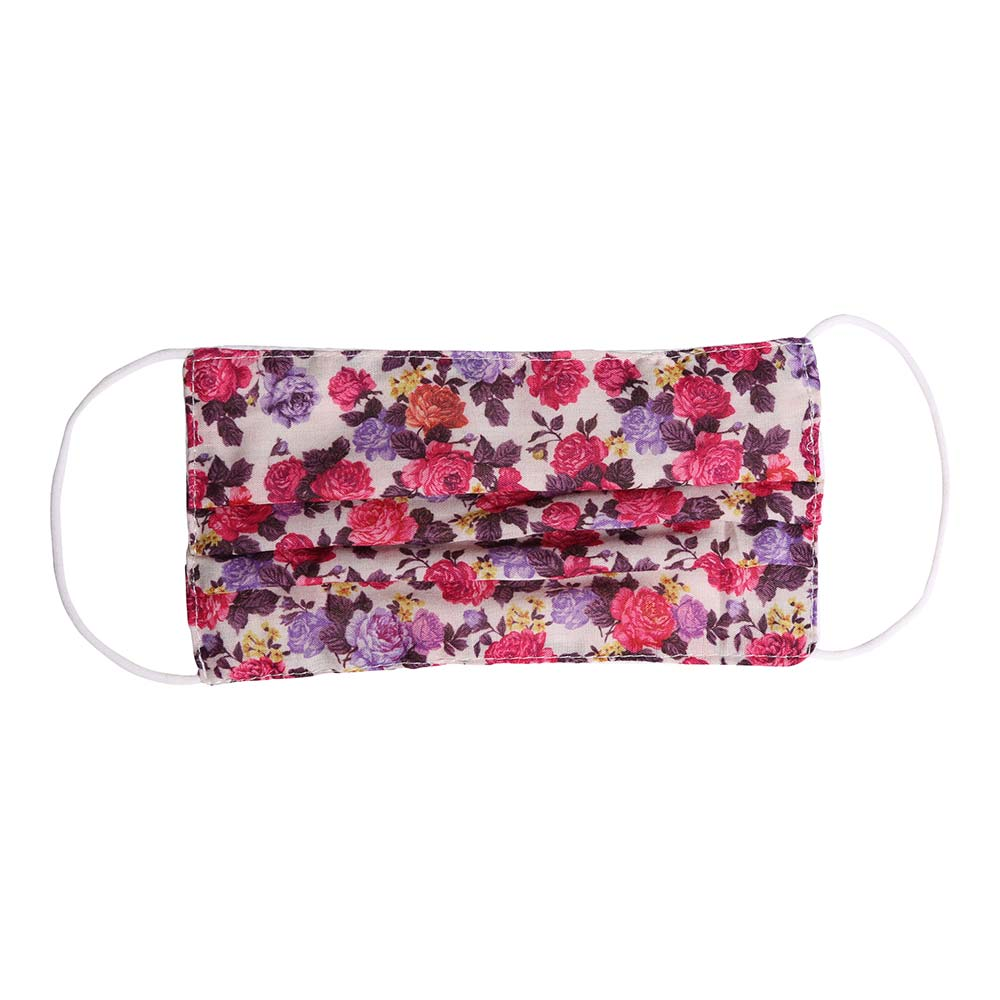 Noellery Strong Adult 100% Cotton Pink Flowers Reusable Face Mask