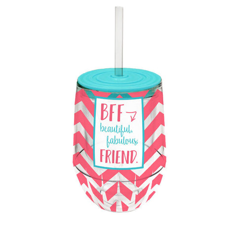 Stemless Wine Cup- BFF