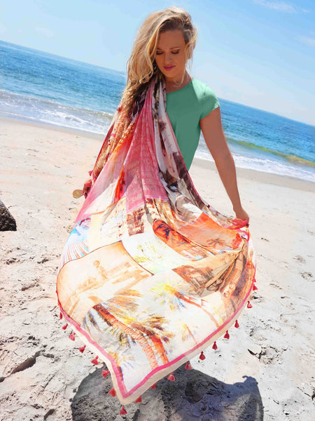 Palm Beach Tassel Scarf